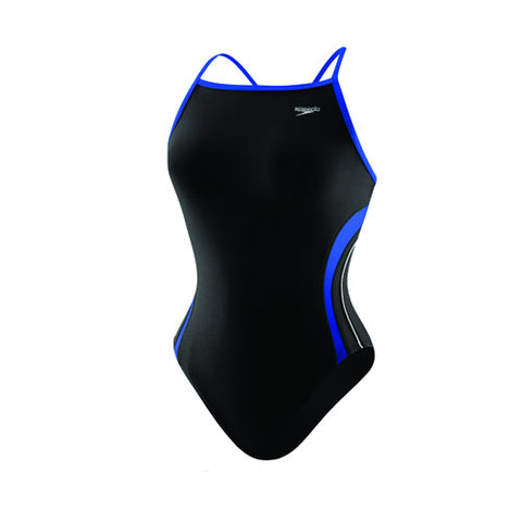 Speedo Rapid Splice Energy Back Youth Black/Blue 26 Youth