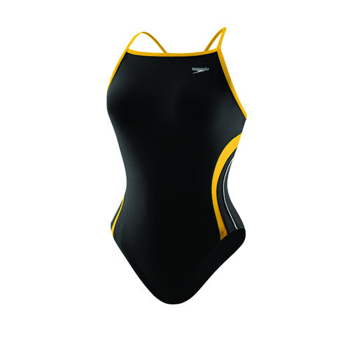 Speedo Rapid Splice Energy Back Youth Black/Gold 28 Youth
