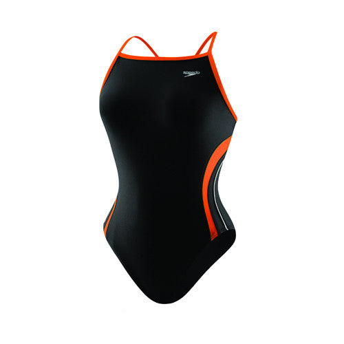 Speedo Rapid Splice Energy Back Youth Black/Orange 24 Youth
