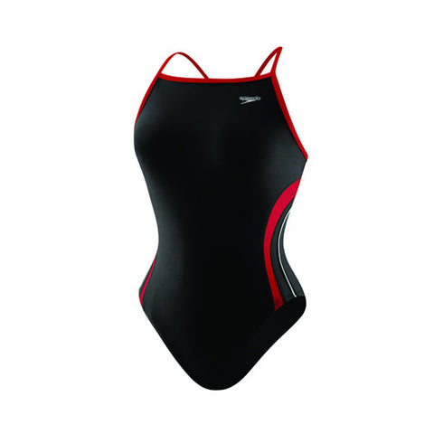 Speedo Rapid Splice Energy Back Youth Black/Red 24 Youth