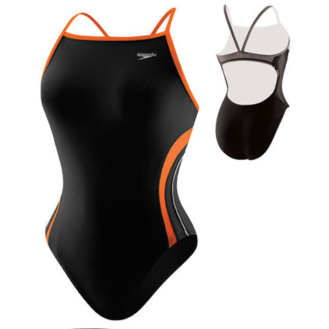 Speedo Rapid Spliced Energy Back Black/Orange 34