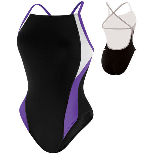 Speedo Launch Splice Cross Back Black/Purple 26