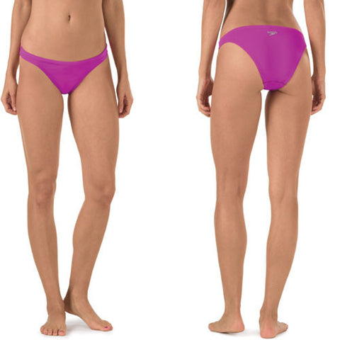 Speedo Solid Lo-Rise Bottom Electric Purple LG