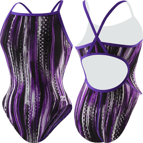 Speedo Deep Within Poly Flyback Purple 28