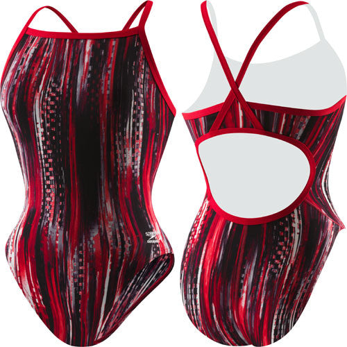 Speedo Deep Within Poly Flyback Red 34