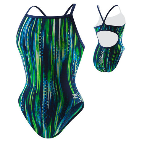 Speedo Deep Within Poly Flyback Blue/Green 28