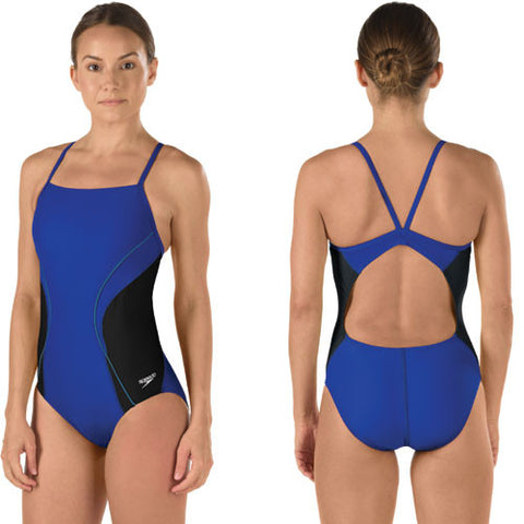 Speedo Revolve Splice Lycra Blue 28