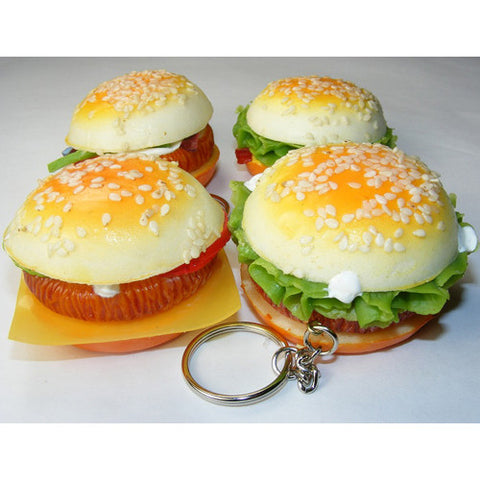 BC USA Squishy Hamburger Keyring
