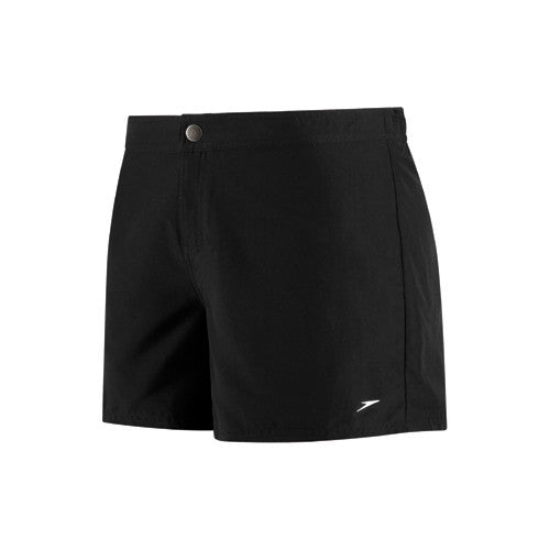 Speedo Wmn Boardshort Zip Pocket Black MD