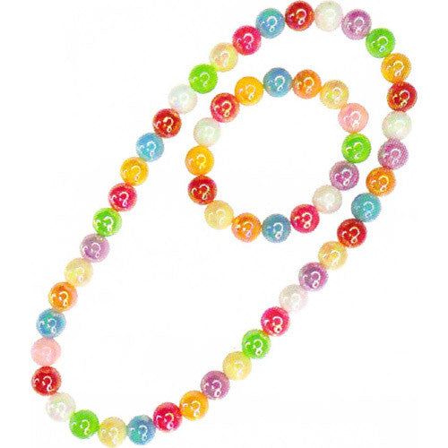 Creative Clr Me Rainbow Necklace & Br