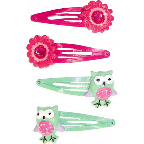 Creative Fl-Owl Power Hairclips 4pc