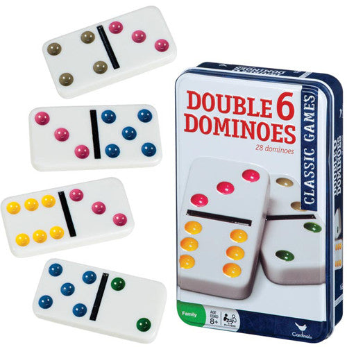 Toysmith Double 6 Dominoes in Tin