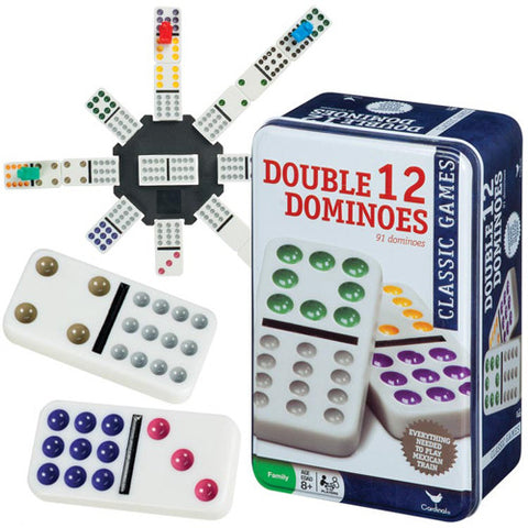 Toysmith Double 12 Dominoes in Tin