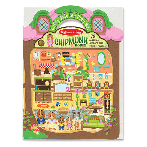 M&D Puffy Sticker Chipmunk House
