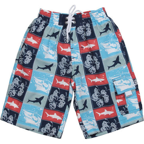 SnapperRock WaterShort Patchwork Sharks 08