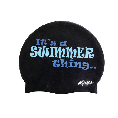 Dolfin Swimmer Thing Silicone Cap Black/Blue