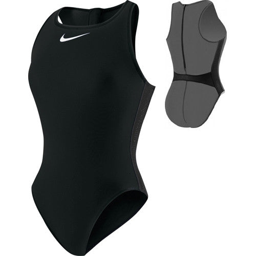 Nike Solid Water Polo Swimsuit Jet Black 24