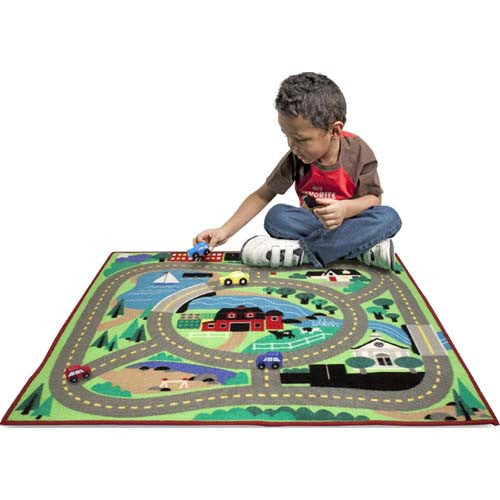 M&D Round the Town Road Rug & Car Set
