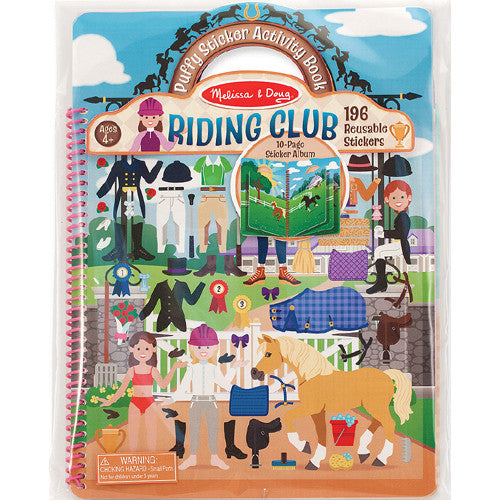 M&D Puffy Sticker Activity Book Riding