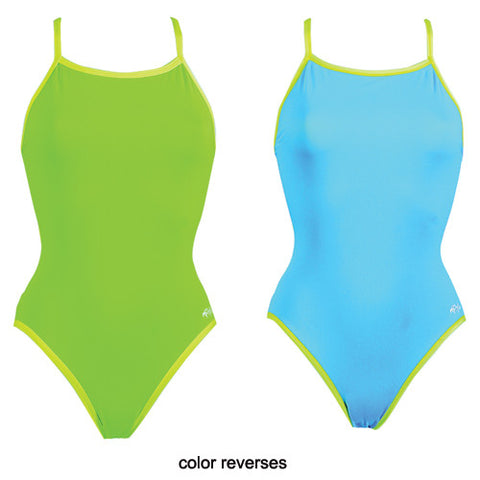 Dolfin Poly Reversible Lime/Turquoise 32