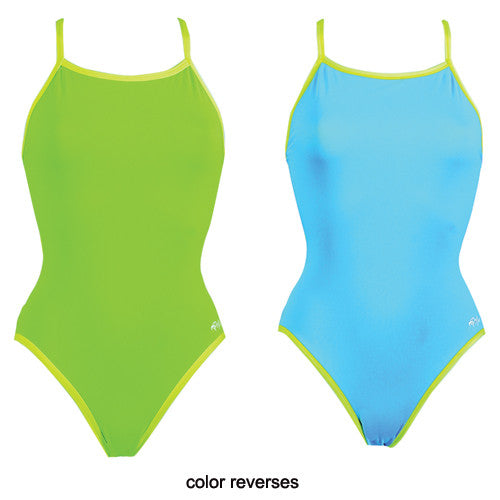 Dolfin Poly Reversible Lime/Turquoise 34