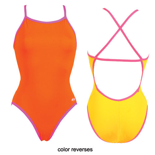 Dolfin Poly Reversible Orange/Yellow 34