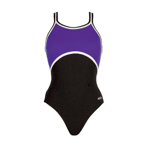 Dolfin Poly Color Block Purple/Black/White 32