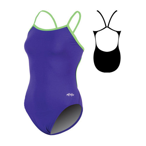 Dolfin Varsity String Back Poly Purple/Lime 30