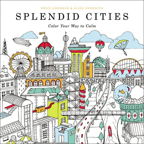 Hachette Coloring Book Splendid Cities