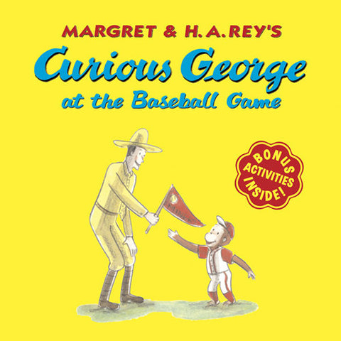 Houghton Curious George at Baseball Game