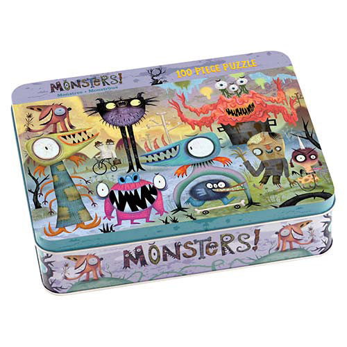 Mudpuppy 100pc Tin Monsters