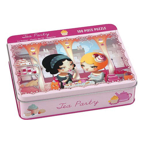 Mudpuppy 100pc Tin Tea Party