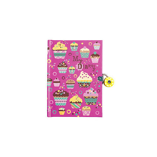 Mudpuppy Cupcakes Locked Diary