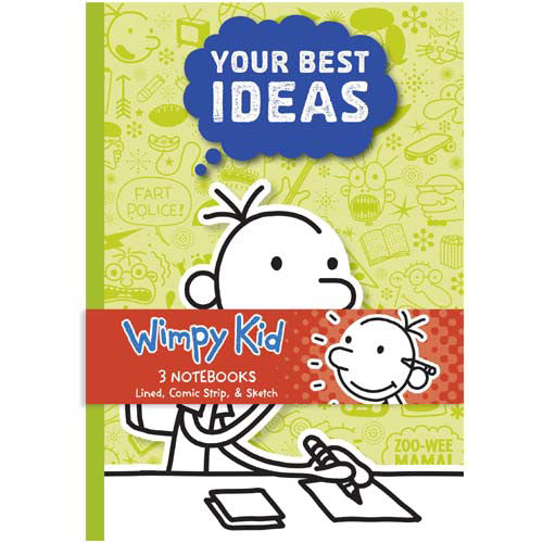 Mudpuppy Wimpy Kid Notebook Set of 3