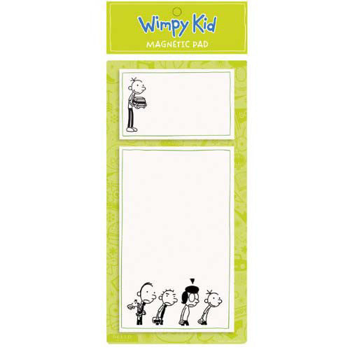 Mudpuppy Wimpy Kid Lime Mag Notepad