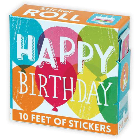 Mudpuppy Sticker Roll Happy Birthday