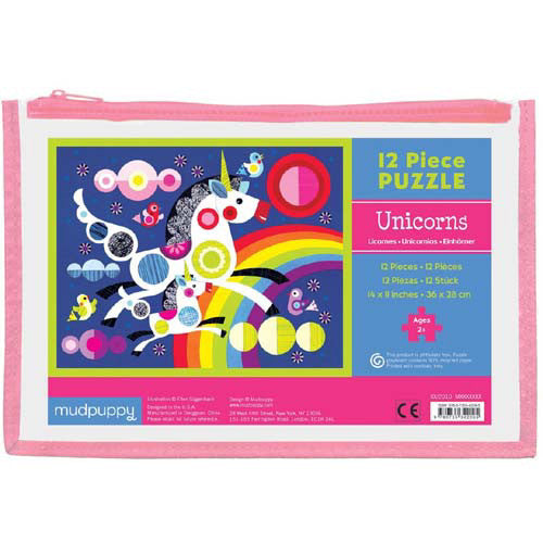 Mudpuppy 12pc Unicorns Puzzle