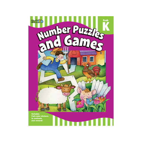Flash Kids Prek-K Number Puzzles & Games