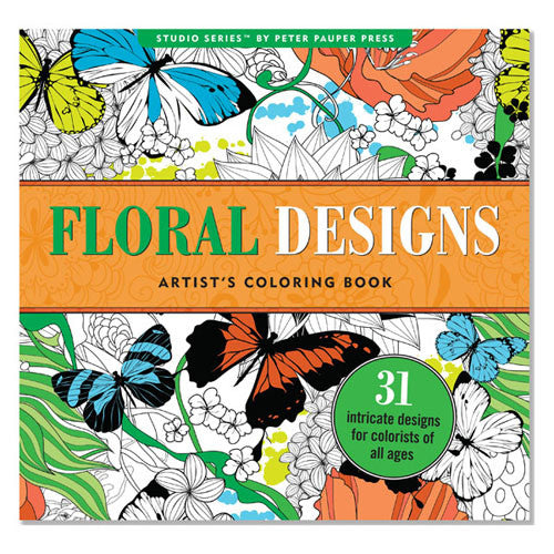 Peter Pauper Coloring Floral Designs