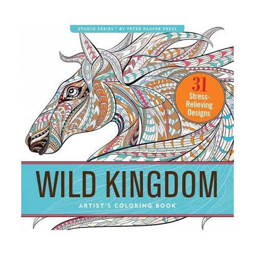 Peter Pauper Coloring Wild Kingdom Desig