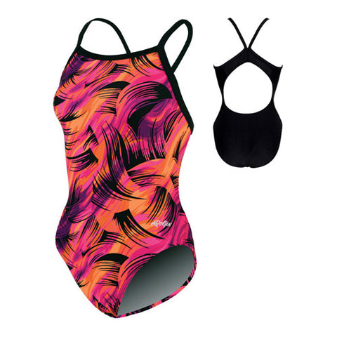 Dolfin Winner Swimsuit Pur/Pink 36