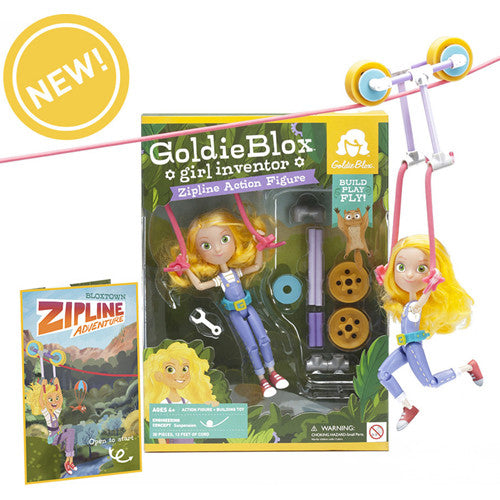 Goldie Blox Action Figure w/ Zipline