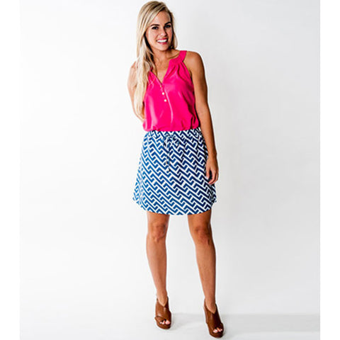 All For Color Kingsley Skirt Nautical Tide LG