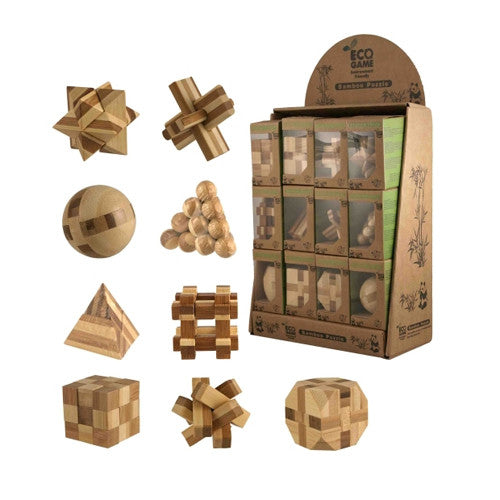 Streamline Mini Bamboo Puzzle Assorted