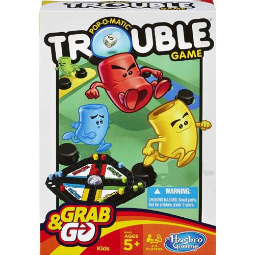 Hasbro Grab N Go Hasbro (Travel Games)| Trouble