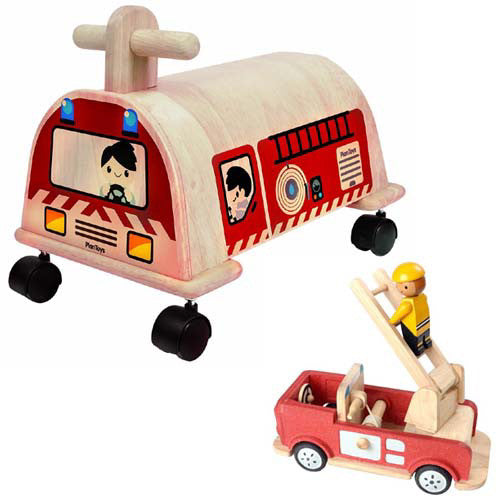 Plan Toys Fire Engine Ride On Value Pack