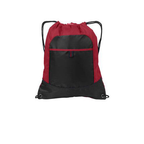 Port Authority Cinch Pack Red