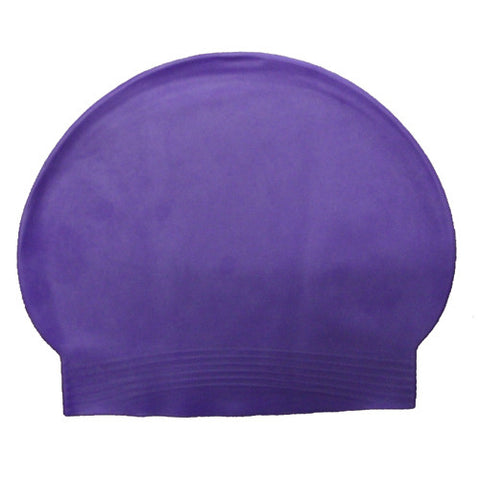 Bettertimes Latex Swim Cap Purple