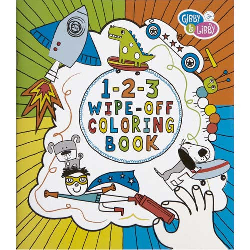 CR Gibson Boy 123 Wipe Off Coloring Book