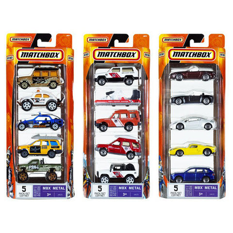 Matchbox 5 Pack Window Box Asst